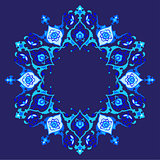 blue artistic ottoman pattern series fifty eight