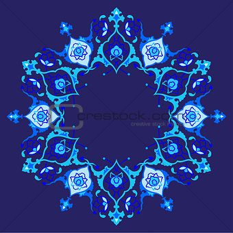 blue artistic ottoman pattern series fifty eight