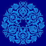 blue artistic ottoman pattern series fifty five