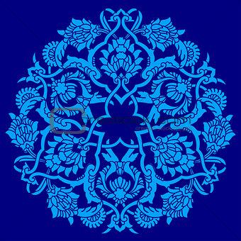 blue artistic ottoman pattern series fifty five