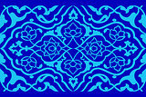 blue artistic ottoman pattern series fifty six version