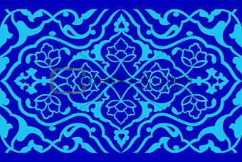 blue artistic ottoman pattern series fifty six version