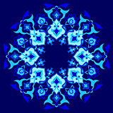 blue artistic ottoman pattern series sixty one