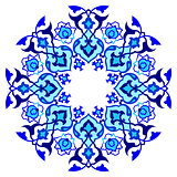 blue artistic ottoman pattern series sixty