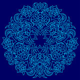blue lines artistic ottoman pattern series fifty five