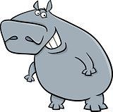 hippopotamus cartoon illustartion
