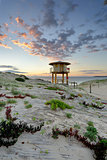 Wanda Beach Surf Life Guard  Lookout Tower at sunrise