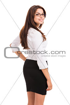 Beautiful hispanic business woman