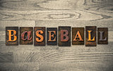 Baseball Wooden Letterpress Concept