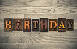 Birthday Wooden Letterpress Concept