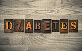 Diabetes Wooden Letterpress Concept