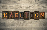 Election Wooden Letterpress Concept
