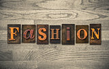 Fashion Wooden Letterpress Concept