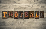 Football Wooden Letterpress Concept