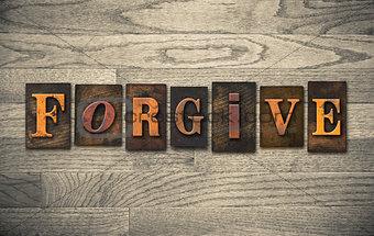 Forgive Wooden Letterpress Concept