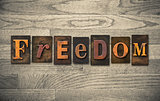 Freedom Wooden Letterpress Concept