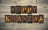 Happy Kwanzaa Wooden Letterpress Concept