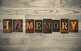 In Memory Wooden Letterpress Concept
