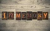In Memory Wooden Letterpress Concept