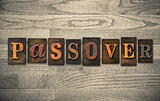 Passover Wooden Letterpress Concept