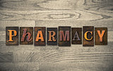 Pharmacy Wooden Letterpress Concept