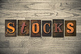 Stocks Concept Wooden Letterpress Type