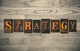 Strategy Wooden Letterpress Concept