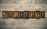 Strategy Wooden Letterpress Concept