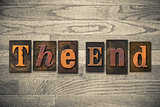 The End Wooden Letterpress Concept