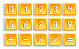 Yellow Numeric Button Set