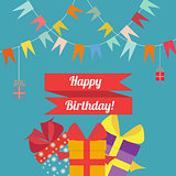 Happy birthday in style flat
