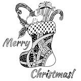 Doodle style - christmas background