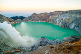 Kawah Ijen volcanic crater at morning dawn, Java, Indonesia