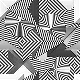 Abstract seamless tuxture. Vector background with geometric line shapes