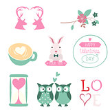 Vector set for Valentines Day