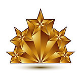 Geometric vector classic golden element isolated on white backdr
