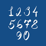 Handwritten vector numbers, modern numbers set.