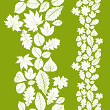 Leaves seamless wallpaper background, vector natural endless pat