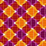 Ornate mosaic seamless pattern, geometric vector background.