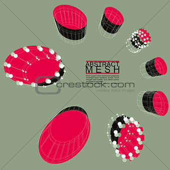 Abstract mesh vector illustration, template for technology theme