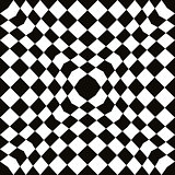 Black and white simple mosaic seamless pattern, simple geometric vector background. EPS8