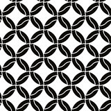 Round shapes seamless pattern, black and white background. EPS8