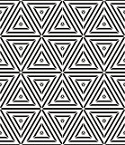 Geometric lines seamless pattern, black and white vector background. EPS8
