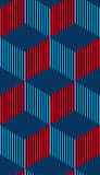 3d cubes seamless pattern, geometric vector background. EPS8