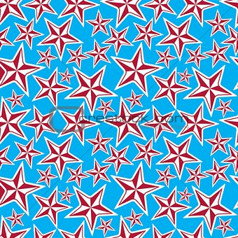 Celebration idea background, beautiful stars. Seamless backgroun