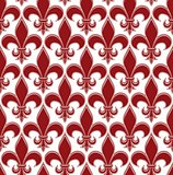Retro artistic seamless pattern with decorative abstract shapes.