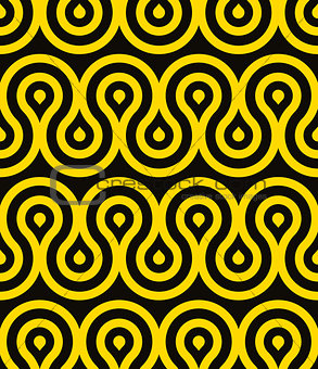 Waves seamless pattern, retro style geometric vector background. EPS8