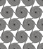 Spiral lines seamless pattern, vector background. EPS8