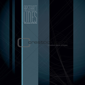 Abstract lines vector illustration, clear eps 8 vector.