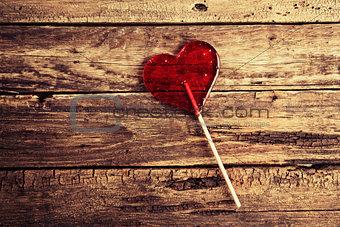 Candy in a heart shape